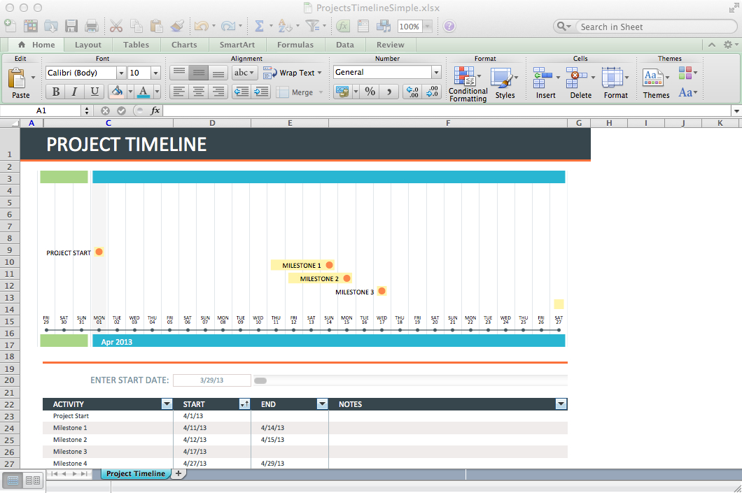 Simple Project Timeline  BesikEightyCo